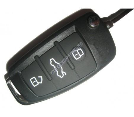 Audi ключ выкидной с дистанционным управлением 3 кнопки Подходит к моделям:: A4, RS4 после 2005. Для автомобилей из Европы. 8E0 837 220Q