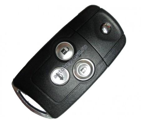 Хонда выкидной ключ с дистанционным управлением (3 кнопки), 433Mhz. Модель Accord с 2007-2012г.в