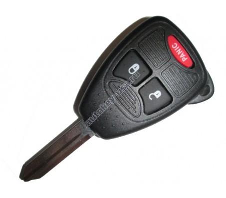Jeep(Джип) ключ с дистанционным управлением (2 кнопок+panic). Модели:: COMPASS, PATRIOT, WRANGLER